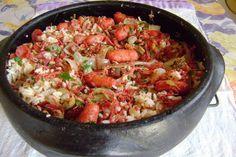 Arroz com Carne Seca e Calabresa   Cozinha Menina