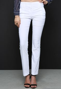 mid waisted formal pants