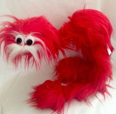 40 tall marionette walking bird monster red furry fuzzy string