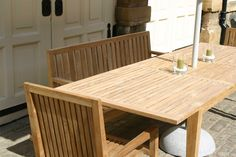 Menton extending outdoor dining table shown with matching Menton chairs. Dining Tables, Outdoor Dining, Outdoor Decor, Contemporary Garden, Garden Table, Chairs, Outdoor Furniture, Home Decor, Kitchen Dining Tables