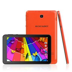 "Kocaso MX780 7-Inch 8 GB Tablet (Orange). Not only does the MX780 come with 8GB built-in storage, but you can also expand your storage up to 32GB with a Micro SD card! You can transfer music, pictures, and games, giving you the freedom to have even more on your tablet. With a high resolution 7"" screen with 1024 x 600 pixel clarity, the MX780 will make everything look sharp and lifelike. Browse Facebook, play your favorite game, watch your favorite movie, all on this beautiful screen!...."