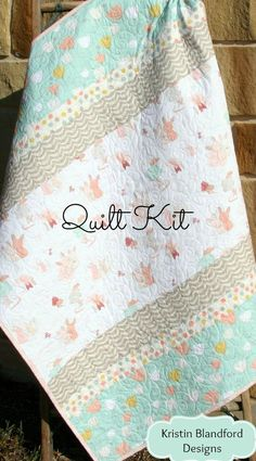 Girl Quilt Kit DIY Project Baby Quilt Kit Bunnies Littlest Cute Art Projects, Baby Diy Projects, Toddler Art Projects, Quilting Projects, Quilting Designs, Sewing Projects, Sewing Ideas, Baby Girl Quilts, Girls Quilts