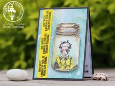scrapbooking card, stamps, jar, VLVStamps