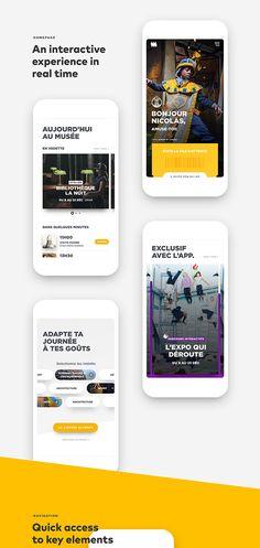 AR/VR Design: Reinventing the Musée de la Civilisation experience Ui Design Mobile, App Ui Design, Flat Design, Interface Design, Site Design, Design Design, Web Mobile, Mobile App Ui, Template Web