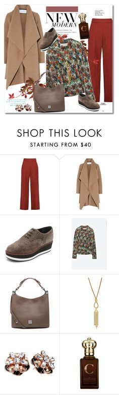 """""""Look the day"""" by vkmd on Polyvore featuring Delpozo, Harris Wharf London, Paloma Barceló, Zara, Rika, Mulberry, Diane Von Furstenberg, Kate Spade, Clive Christian and GetTheLook"""
