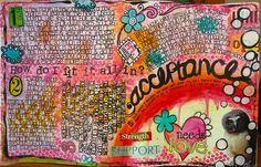 pinterest art journal | Pretty art journal pages