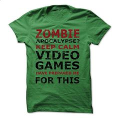 Zombie Apocalypse Gamers Keep Calm - #teens #hoodies for boys. I WANT THIS => https://www.sunfrog.com/Zombies/Zombie-Apocalypse-Gamers-Keep-Calm-Funny-T-shirt.html?60505