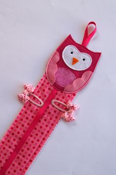 Owl Hairclip Hanger. $25.00, via Etsy.