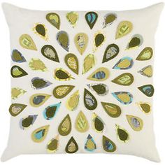 Peacock 16 Pillow in Decorative Pillows | Crate and Barrel