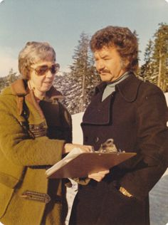 Remember the TV show the Beachcombers Celebrity Bruno Gerussi narrated one of our films. Here he is with long-time volunteer, Bunty Clements. I Am Canadian, Canada Day, British Columbia, Movie Tv, Personality, Tv Shows, Films, Men Casual, Action