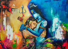Shakti is Observation and Shiva is the Observer. Shakti is the Energy and Shiva is the Awareness. Photos Of Lord Shiva, Lord Shiva Hd Images, Shiva Lord Wallpapers, Lord Ganesha Paintings, Lord Shiva Painting, Shiva Parvati Images, Shiva Shakti, Shiva Art, Krishna Art