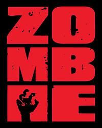ZOMBIE Stacked Red; 8 x 10 Print
