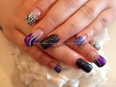 Full set of acrylic with with nail art