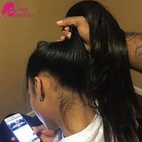 """New Arrival 22x4x2 Full 360 Lace Frontal Closure Straight 10""""-20"""" Best Peruvian Elastic Band Lace Frontal Closure With Baby Hair"""