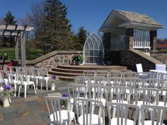 Beautiful outdoor ceremony at the Waegwoltic Club, where we are the exclusive caterers.