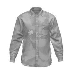 毛筆風のグラフィックシャツです。/『毛筆風 グラフィックシャツ 白』 - 7th Spirits