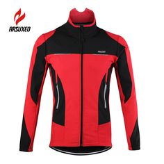 07cbd25c3c8 Aliexpress.com   Buy ARSUXEO Fleece Thermal Cycling Jacket Winter Warm Up Bicycle  Clothing Windproof Sports Reflective Coat MTB Bike Jersey 15F  from ...