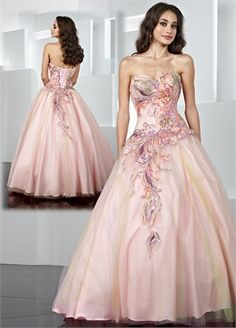 A-line Sweetheart Applique Tulle and Taffeta Prom Dress PD0041 www.simpledresses.co.uk £138.0000