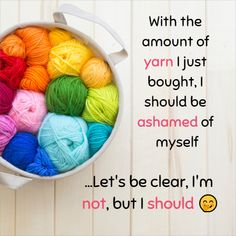 We all enjoy a good laugh every now and then, and when you crochet, you enjoy a unique sense of humour that these perfectly punny pictures pinpoint. Crochet Stitches, Crochet Hooks, Free Crochet, Crochet Patterns, Knitting Humor, Crochet Humor, Funny Crochet, Happy Signs, Elephant Blanket