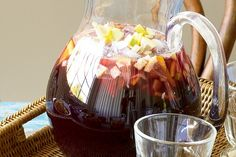 """Sangria - """"In a blind tasting experiment with our (more than) willing visitors, this won the 'best sangria' award hands down. Tapas Recipes, Sangria Recipes, Drink Recipes, Vegan Recipes, Cooking Tips, Cooking Recipes, Christmas Drinks, Christmas Lunch, Christmas Goodies"""