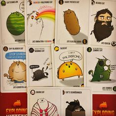 Do you have a favourite cat in #explodingkittens ?  Chessie just loves all of them! #cats #boardgames #boardgamegeek #cardgame #game