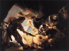 The Blinding of Samson by Rembrandt van Rijn. Museums: Städel Museum, Frankfurt am Main; Medium: oil on canvas; Caravaggio, Chiaroscuro, Städel Museum, Maurice De Vlaminck, Rembrandt Paintings, Rembrandt Art, Oil Canvas, Canvas Art, Art Occidental