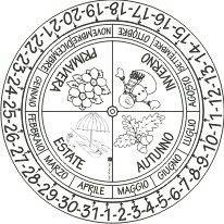 Cartellone calendario perpetuo