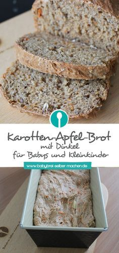 Das Tolle an diesem Apfel-Karotten-Brot für Babys und Kleinkinder ist, dass es … The great thing about this apple and carrot bread for babies and toddlers is that it remains nicely juicy and long-lasting thanks to the carrot and the… Continue reading → Fun Easy Recipes, Baby Food Recipes, Baking Recipes, Dessert Recipes, Desserts, Recipes Dinner, Backen Baby, Kids Meals, Easy Meals