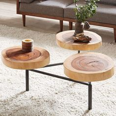 Ink+ivy Arcadia Naturale Coffee Table, Natural