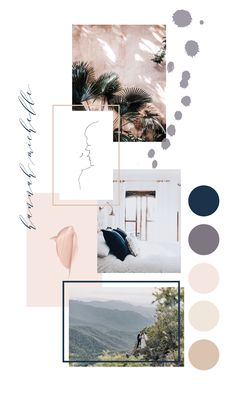Mood board inspiration for small business owners and entrepreneurs Design Visual, Graphisches Design, Design Studio, Design System, Design Color, Pattern Design, Mode Collage, Aesthetic Collage, Mise En Page Portfolio Mode