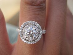 double halo round engagement ring - Google Search