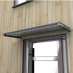 Small Flat Window Awning With Overhead Support Outdoor