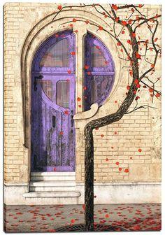 "Giclee Canvas Wall Art ""Nouveau"" by Cynthia Decker"