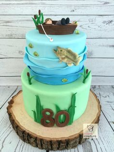 fisherman birthday cake fishing bass for themed cakes