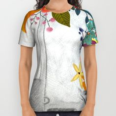 #bouquet #watercolor #colorful #flowers #floral #woman #girly #pretty #shabby #spring #summer available in different #homedecor products. Check more at society6.com/julianarw #allprinttshirt