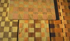 My new cuting boards with fantastic colours.