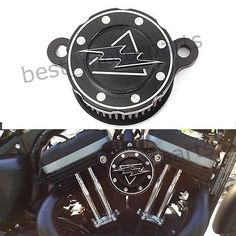 BLACK AIR CLEANER INTAKE FILTER SYSTEM FOR HD HARLEY SPORTSTER XL883 XL1200 US