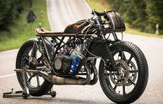 The Falcon - Moto Essence Yamaha RD350 YPVS via returnofthecaferacers.com