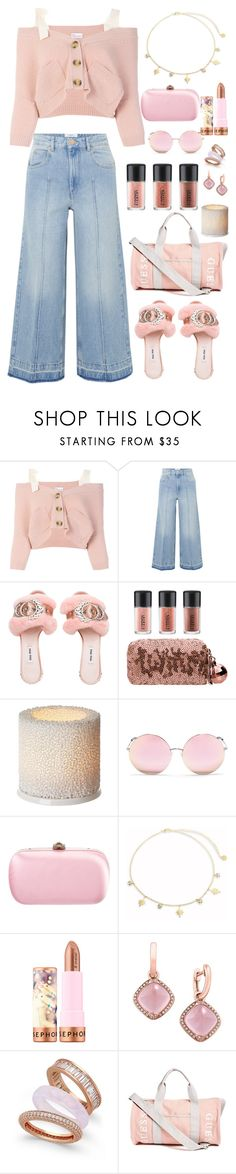 """""""airport style"""" by citycoastalclothing ❤ liked on Polyvore featuring RED Valentino, Étoile Isabel Marant, MAC Cosmetics, iittala, Matthew Williamson, Gucci, Jules Smith, Sephora Collection, Effy Jewelry and Paul & Pitü Naturally"""