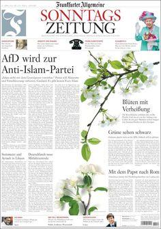 #20160417 #GERMANY #DEUTSCHLAND #Frankfurt #FrankfurterAllgemeine20160417 Sunday APR 17 2016 http://en.kiosko.net/de/2016-04-17/np/faz.html