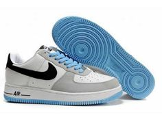 UK Market - Nike Air Force 1 Low Mens GS White Black Italy Blue Trainers