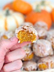A (Baked Pumpkin Fritters)