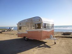 """Pink Vintage 1963 Shasta trailer Selected by Amy: """"I would use this for an adorable ice cream bar!"""""""