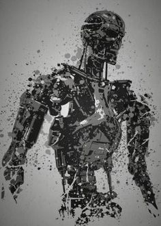 steel canvas Movies & TV terminator t800 arnold schwarzenegger judgement day robots machines grey pop culture splatter movie