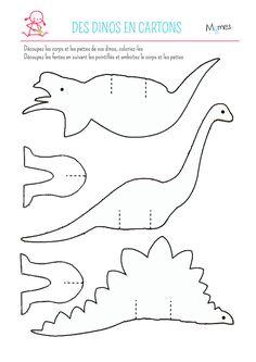 Réalisez en deux temps trois mouvements ces dinos rigolos en papier en suivant ce tutoriel. Idéal pour la décoration d'une fête d'anniversaire pour enfants sur le thème des dinosaures !