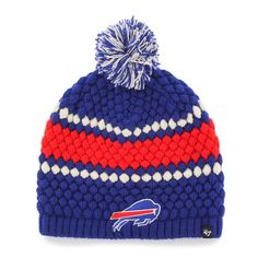 Amazon.com   NFL Buffalo Bills Women s  47 Leslie Knit Beanie with Pom 5df6a2237