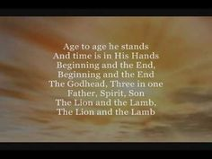 """What a great and moving song.  Love love it! """"How Great Is Our God"""" by Chris Tomlin.  Enjoy!"""