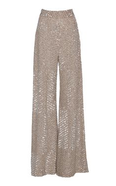 Jonathan Simkhai Dimensional Sequin Wide Leg Pant In Neutral Retro Outfits, Classy Outfits, Chic Outfits, Fashion Pants, Hijab Fashion, Fashion Dresses, Hijab Evening Dress, New Years Eve Outfits, Indian Designer Outfits