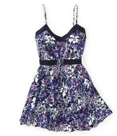 Belted Violets Dress from Aeropostale