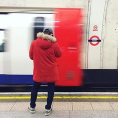 68/366 - When people match places  #whenpeoplematchplaces #urbanexploration #underground #tube #london #thisislondon #red #mobilephotography #365project